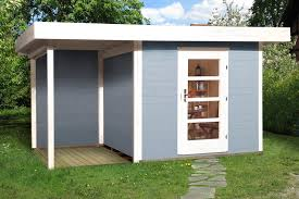 gartenhaus design flachdach gartenhaus flachdach lounge größe 1 weka typ 172 mit einzeltür