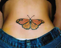 butterfly tattoos for on lower back lower back