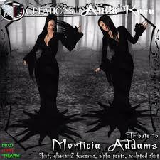 Morticia Addams Dress Second Life Marketplace Box Morticia Addams Dress 650