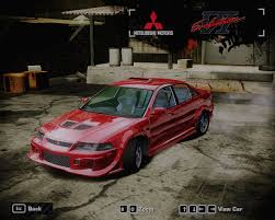 ricer lancer need for speed most wanted mitsubishi lancer evolution vi gsr
