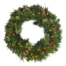 buy 36 pre lit wreaths from bed bath beyond