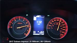 subaru impreza reviews specs u0026 prices top speed 2017 subaru impreza review 0 100kmh 0 60mph acceleration test
