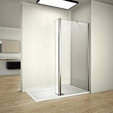 700mm walk in shower enclosure wet room screen panel easyclean
