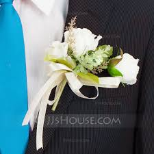 mens boutineer lovely artificial silk boutonniere men s accessories