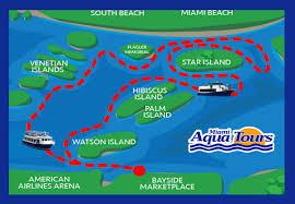 Miami Beach Map by Boat U0026 City Tour Maps