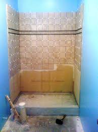 how to finish a basement bathroom tile the shower and floor