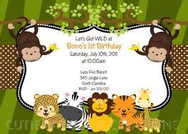 jungle safari birthday invitation printable or printed jungle