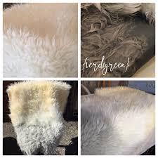 Faux Fur Sheepskin Rug How To Diy Ahem Dye A Faux Sheepskin Rug With Chalk Paint