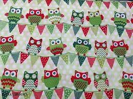 Patchwork Shops Uk - nutex patchwork fabric happy owl bunting all green