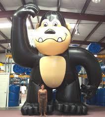 gorilla balloon a great gorilla bouncy castle land
