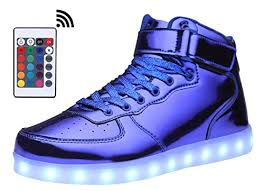 light up sneakers mohem shinynight high top led shoes light up usb charging flashing