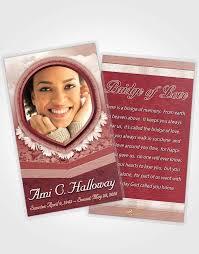 Funeral Card Template Prayer Card Template Ruby Splendor