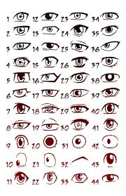 shonen hairstyles 63 pairs of female anime eyes a fun project by iza nagi on