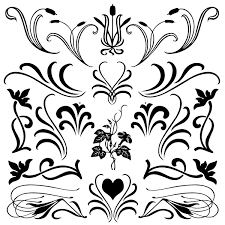 florals with flourish brushes and shapes suziq creations