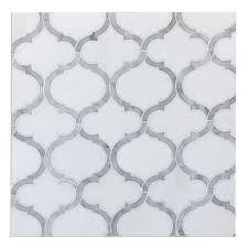 white thassos u0026 carrara marble arabesque marrakesh waterjet luxury