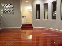 rich looking recently refinished brazilian cherry wood floors are