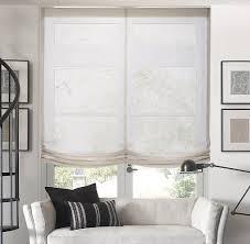 relaxed roman shades linen