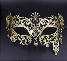 metal masquerade mask 24 pcs lot black gold metal filigree venetian rhinestone