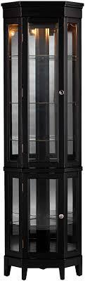 replacement kitchen cabinet doors essex sei furniture essex 2 tier corner adjustable glass shelves curio cabinet black