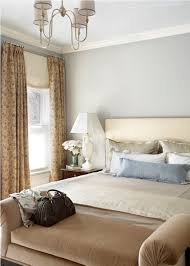 Calming Bedroom Wall Colors Comfortable Beige Bench And Soft Grey Wall Color For Calming