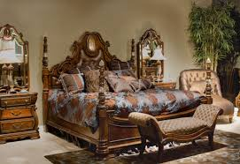 Aico Furniture Dining Room Sets Furniture Charming Wooden Bed In Brown With Wonderful Carving