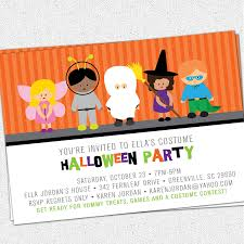 halloween kids cartoons printable halloween invitation birthday party costume kids