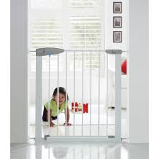 Baby Stair Gates Lindam Sure Shut Porte White Stairgate Kiddicare Com