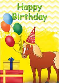 printable horse christmas cards printable kids birthday cards