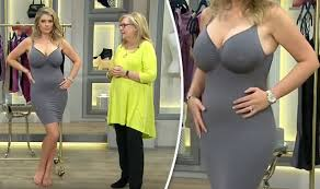 former qvc host with short blonde hair qvc shopping channel video of curvy underwear model sends viewers