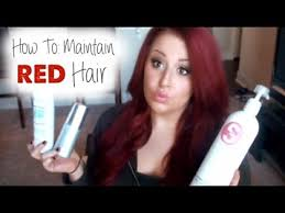 what color is chelsea houska hair color updated hair care maintaining red hair youtube