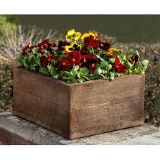 Concrete Planter Boxes by Campania International Inc Square Planter Box Finish Aged
