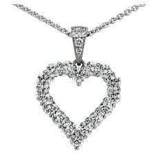 platinum heart necklace images Graff diamond platinum heart necklace at 1stdibs jpg