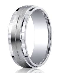 mens silver rings mens silver satin wedding ring step polished edges