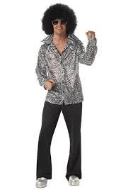 mens flashy disco shirt retro 70s halloween costumes