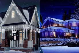 snowing icicle outdoor lights christmas led white snowing icicle bright party wedding xmas outdoor