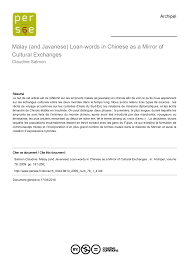 maif si鑒e social and javanese loan words in as a mirror of cultural