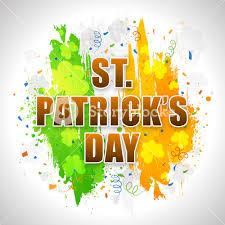 Color Of Irish Flag Stylish Text St Patrick U0027s Day On Irish Flag Color Paint Strokes
