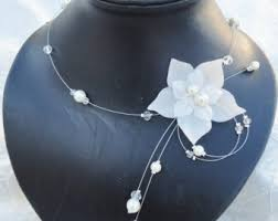 collier de mariage collier mariage perle ivoire etsy