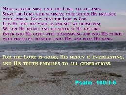 Psalms Of Praise And Thanksgiving Praise God Family Song