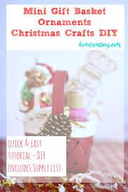 easy diy christmas crafts holiday homemade mini gift basket with
