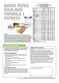 si e repas b barre repas equilibre formula 1 express herbalife tahiti by