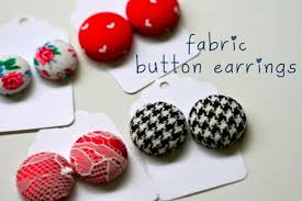 diy button earrings diy earrings for your fashion statement glam radar