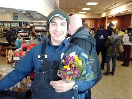 strangers flowers when you go into a wawa and pass out flowers to strangers what