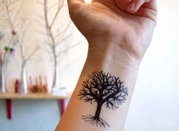 tree on wrist wrist