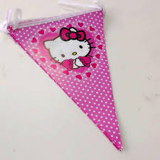 Hello Kitty Flag 2 5m Set Hello Kitty Banner And Flag Cartoon Theme Party For