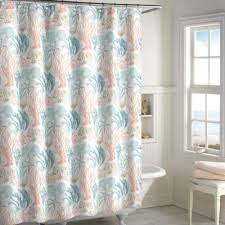 Salmon Colored Shower Curtain Buy Coral Fabric Shower Curtains From Bed Bath U0026 Beyond