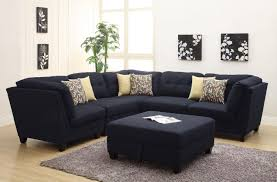 Black Leather Sofa With Chaise Furniture Comfortable Oversized Sectional Sofas For Your Living