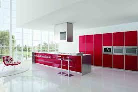 red kitchen design contemporary kitchen design with white and red