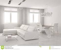 sala pranzo moderna interiore moderno salone e della sala da pranzo illustrazione