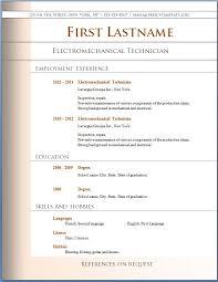 free microsoft word doc professional job resume and cv templates